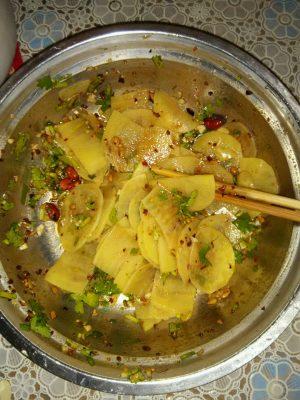 Chinese Spicy Potato Salad