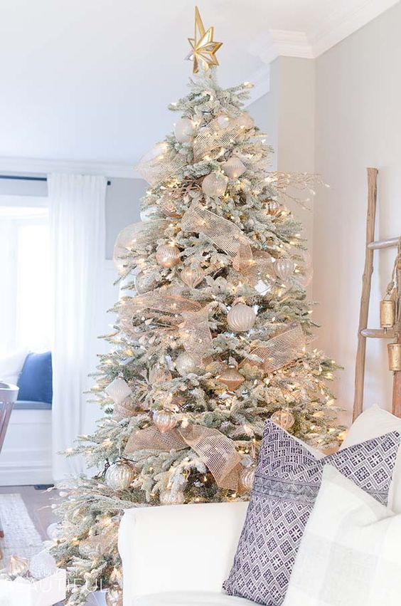 36 Rose And Gold Christmas Tree Decorating Ideas 2018 Page 12 Of