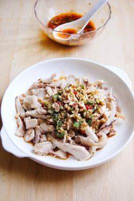 Real-Deal Sichuan Chicken in Red Oil Sauce (口水鸡, Saliva Chicken)