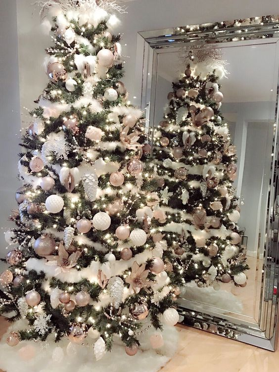 36 Rose And Gold Christmas Tree Decorating Ideas 2018 Page 23 Of