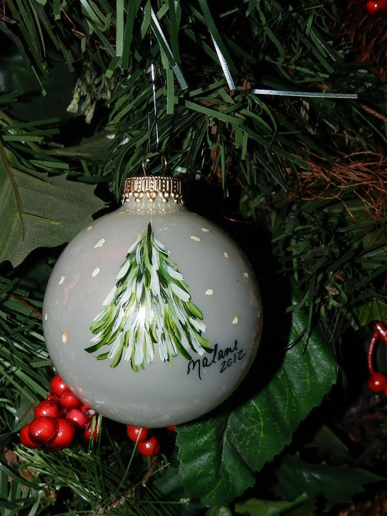 DIY glass ball ornaments; Christmas tree ornaments; handmade presents; Christmas balls; hand painted Christmas ornaments; Christmas ball ornament ideas; DIY snow globe ornaments.