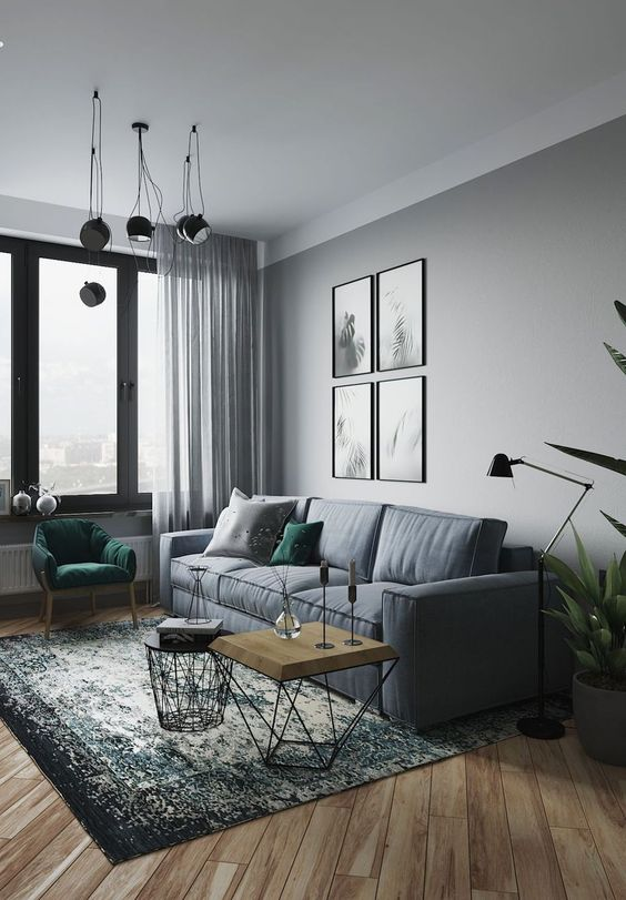 60+ Grey Small Living Room Apartment Designs to Look Amazing ...