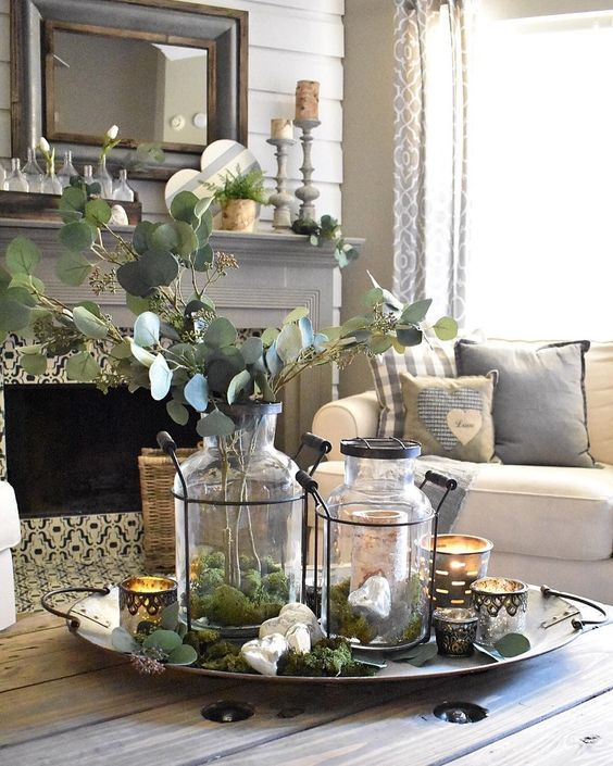 67 Rustic Tray Ideas To Style Your Coffee Table