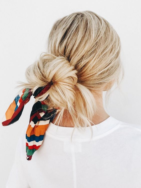 45 Chic Summer Hairstyles with Headscarves