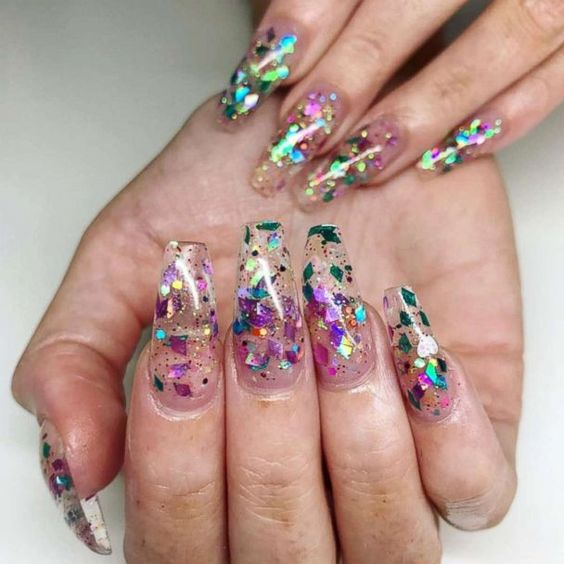 30+ Trendy Jelly Nails New Trend Are Perfect for This Summer 2019 jelly nails, newest nail trend 2019, acrylic nail art design 2019, clear jelly nails